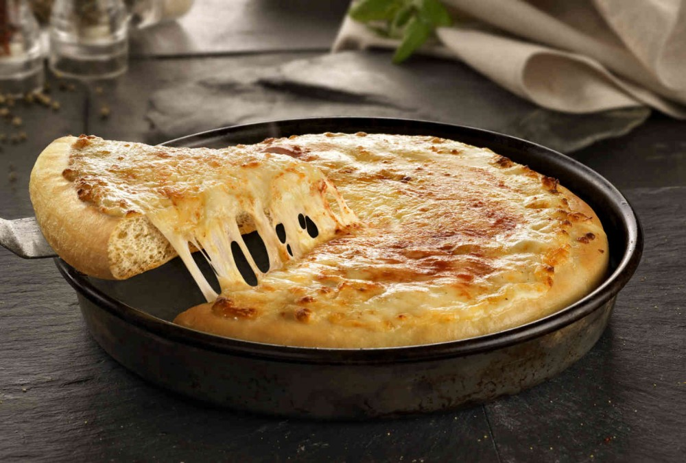 pizza hut pan pizza Page 1 12 medium pan pizza 1 slice (1 slice = 1/8 pizza) cheese only 91  240 90 11 45 0 25 530 27 1 2 11 pepperoni 90 250 110 12 45 0 25.